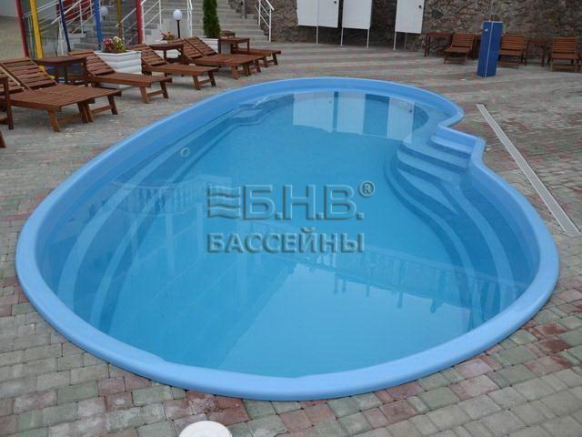 Стекловолоконный бассейн Соренто 2 - Запорожье 2017