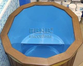 Купель для сауны овальная (пластиковая)
