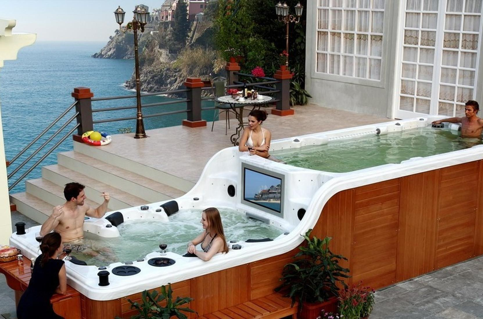 керамический бассейн и спа