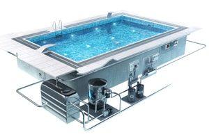 Бетонный бассейн по чертежам заказчика