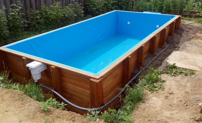 Сборный каркасный морозоустойчивый бассейн