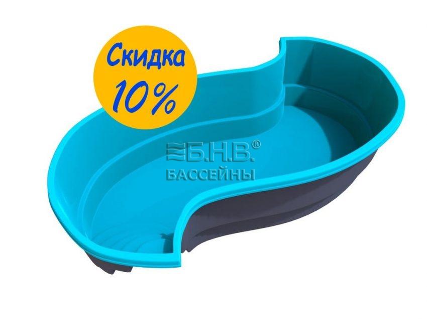 стекловолоконный бассейн для дачи