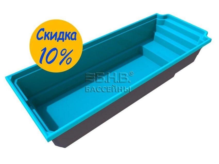 Стекловолоконный бассейн для семьи