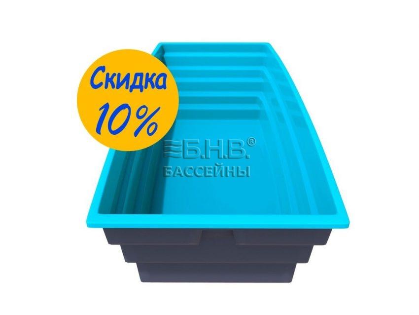 купить стеклопластиковый бассейн Парус