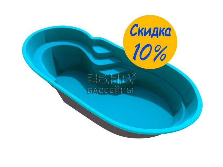 Стеклопластиковый бассейн Соренто 2