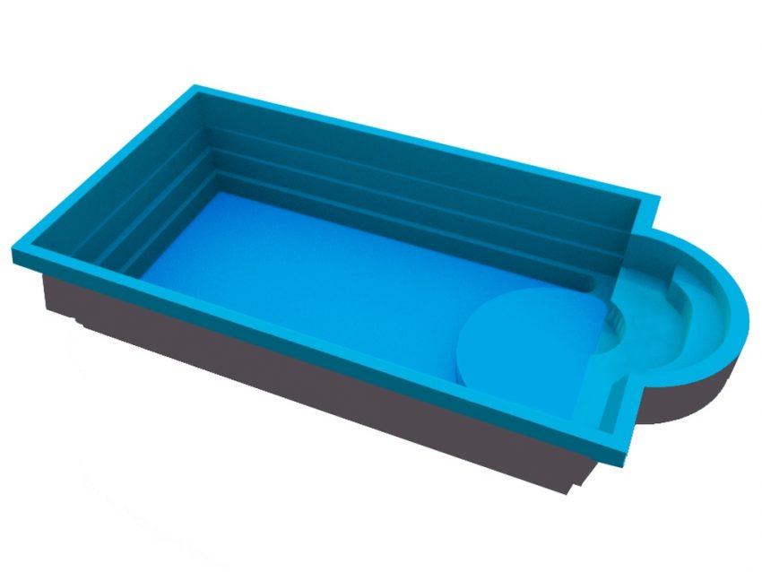 Купить стекловолоконный бассейн Гольф