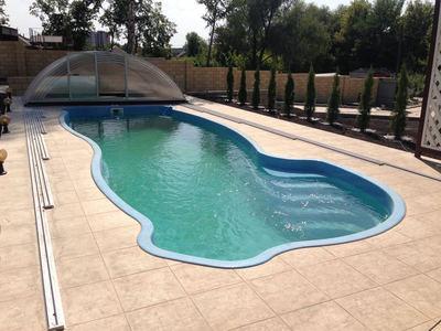 стандартный бассейн-стекловолоконный Монако